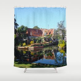 Bright town Shower Curtain
