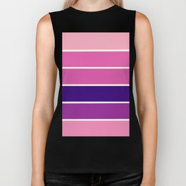 StrIPEs : Pink Lavender Purple Ombre Biker Tank