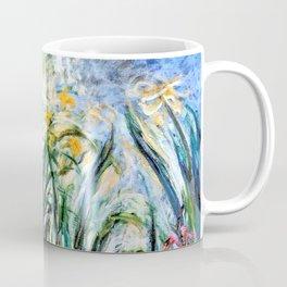 Claude Monet Yellow Irises and Malva Coffee Mug