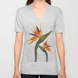Paradise Flower Unisex V-Neck