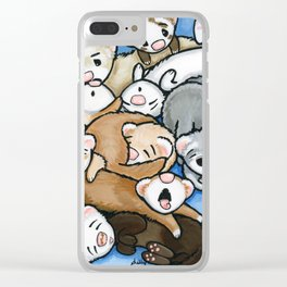 Wall to Wall Weasels Clear iPhone Case