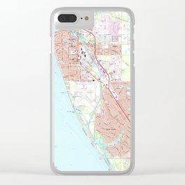Venice Florida Map (1973) Clear iPhone Case