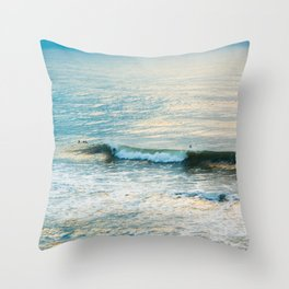 Winter Surfing II Throw Pillow