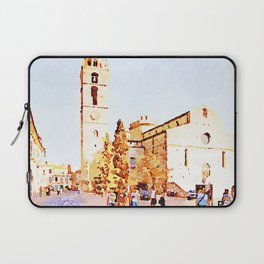 Teramo: square with cathedral Laptop Sleeve