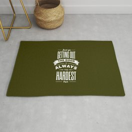 Lab No. 4 - Just Go. Getting Out The Door Motivational and Gym Quotes Poster Rug