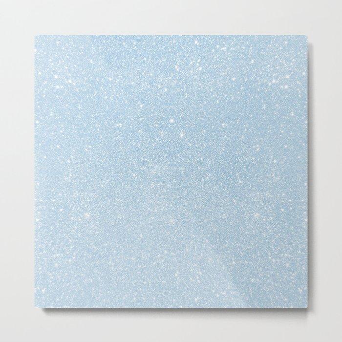 Pastel Blue Glitter Metal Print