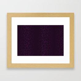 Deep Purple Leopard Print Framed Art Print