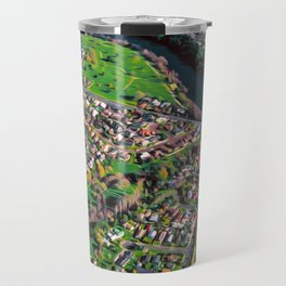 Hamilton City, New Zealand - Aerial view  Travel Mug