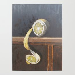 Lemon still life Poster