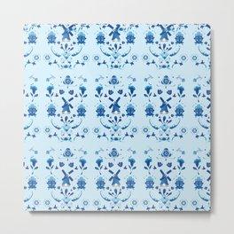 Delft Blauw Metal Print
