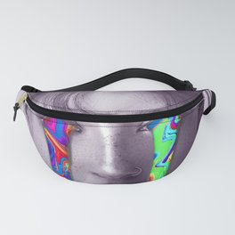 Colorful tears artwork ( black and white with rainbow colors ) Fanny Pack