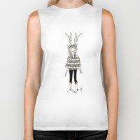 antlers Biker Tanks featuring Antlers by Helena.S