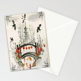Oriental Garden Stationery Cards