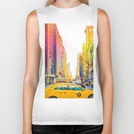 Colors of New York City Downtown Manhattan Biker Tank