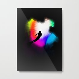 Dive Through The Rainbow Metal Print