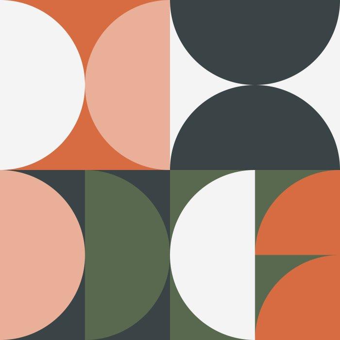 Mid Century Geometric 15 Duvet Cover