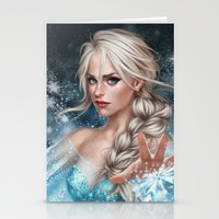 elsa Stationery Cards featuring Elsa by Fernanda Suarez