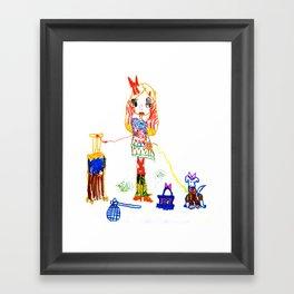 Girly Travel Framed Art Print