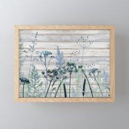 Rustic Barn Wood Series: Decorative Wild Grass Framed Mini Art Print