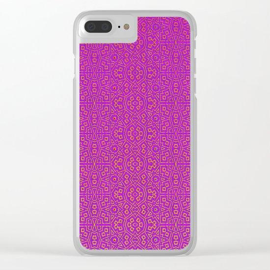 Purple Tribal Pattern Clear iPhone Case