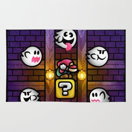 Boos in the Haunted House Rug
