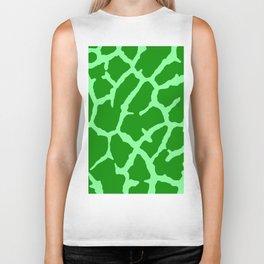 Green Giraffe Print Biker Tank