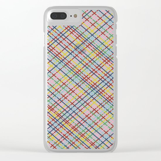 Weave 45 Black Clear iPhone Case