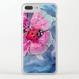 Lucky Ladybug Clear iPhone Case