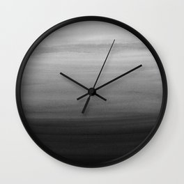 Touching Black Gray White Watercolor Abstract #1 #painting #decor #art #society6 Wall Clock
