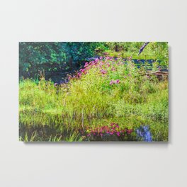 Monet's creek Metal Print