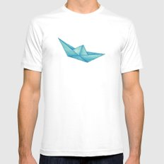 High Seas | Origami | Simplified Mens Fitted Tee White MEDIUM