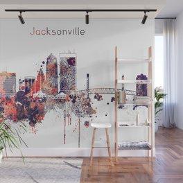 Jacksonville City Skyline Wall Mural