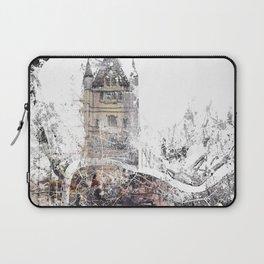 London map - Tower Bridge painting Laptop Sleeve