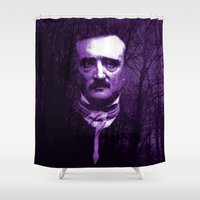 poe Shower Curtains featuring E. A. Poe by Scar Design