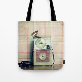 Vintage Camera Love: Pink Kodak Hawkeye Flashfun! Tote Bag
