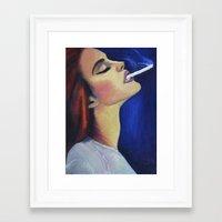 lana del rey Framed Art Prints featuring Lana by Rebecca Jennings
