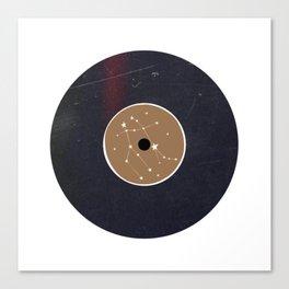 Vinyl Record Star Sign Art | Gemini Canvas Print