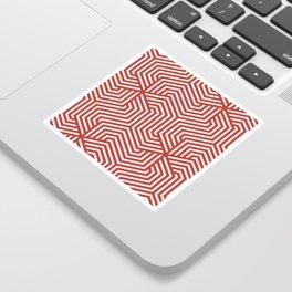 International orange (Golden Gate Bridge) - red - Minimal Vector Seamless Pattern Sticker