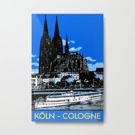 Koeln Cologne retro vintage style travel advertising Metal Print