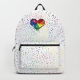 Colorful geometric heart Backpack