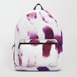 Purple Watercolor Brush Strokes Backpack