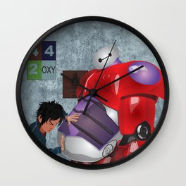 Big Hero 6 Fan Art Wall Clock