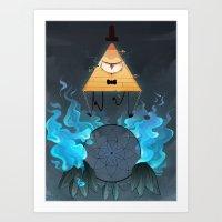 bill cipher Art Prints featuring Bill Cipher by Maplespyder
