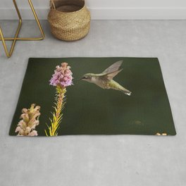 Hummingbird and flower II Rug