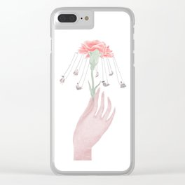 Carnation Ride Clear iPhone Case