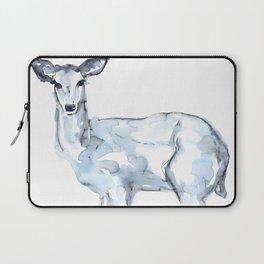 Deer Watercolor Sketch Laptop Sleeve