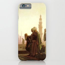 Islamic Masterpiece 'Prayer in Cairo' by Jéan Leon Gerome iPhone Case