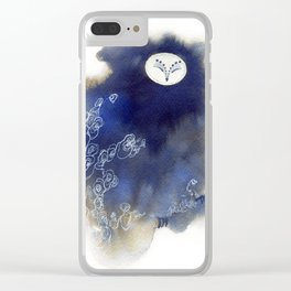 Ghost Owl Clear iPhone Case
