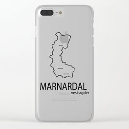 map of marnardal Clear iPhone Case