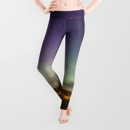 Aurora and the ISS Leggings